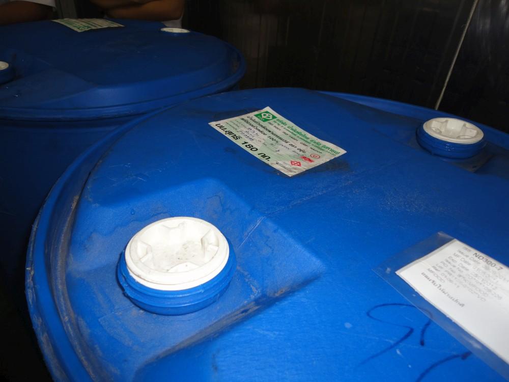 L'huile Kacher arrive dans des fûts scellés